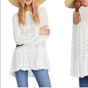 Kiss Kiss Free People Ivory Tunic